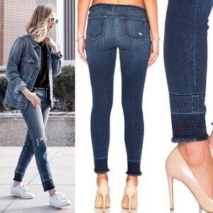 J BRAND Stigma Capri Jeans Size 25 Raw Waist Hem